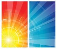 Die heiße Sommersonne Stockbild