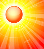 Die heiße Sommersonne Lizenzfreie Stockbilder