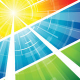 Die heiße Sommersonne Lizenzfreies Stockbild