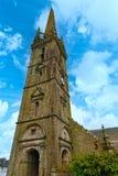 Die Heilig-Suliaukirche in Sizun (Bretagne, Frankreich) Stockbild