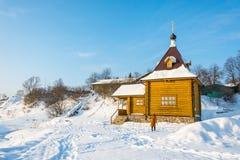 Die heilige Quelle der Tikhvin-Ikone der Mutter des Gottes, Januar Stockfotos