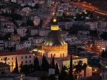 Die heilige Stadt von Nazareth in untererem Galiläa, Israel lizenzfreie stockbilder