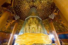 Die heiligen Relikte, die in der achteckigen Pagode untergebracht wurden, nannten ` ` Ketkaew Prasat Chedi am Höhlen-Tempel Wat T stockbild