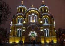 Die Heiliges Vladimir-Kathedrale in Kiew, Ukraine stockfotografie
