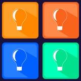 Die helle Lampenikone Ideensymbol Flacher Vektor Stockfotografie