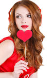 Die helle Schönheit an St.-Valentinstag Stockfotografie