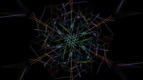 Die hellen Farben der Linien auf schwarzem Hintergrund lizenzfreies stockfoto