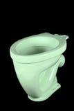 Die hellgrüne Toilettenschüssel Lizenzfreies Stockfoto