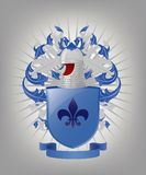 Die heraldischen Arme. Stockbilder