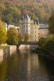 Die Herbstansicht in Karlovy unterscheiden sich Lizenzfreies Stockbild