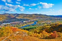 Die Herbstbahrain-Stadt Lizenzfreies Stockbild