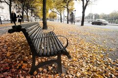 Die Herbstsaison in Stockholm lizenzfreies stockfoto