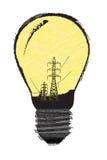 Die herkömmliche Lampe Stockfoto