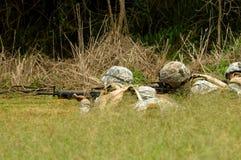 Die Herstellung eines Soldaten Stockfotografie