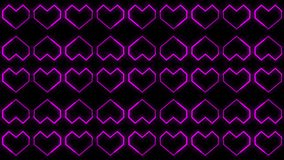 Die Herz-Hintergründe winken die Grafiken zu, die Valentine's-Tag kennzeichnen, belebten Formen und Partikel vektor abbildung