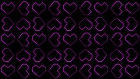 Die Herz-Hintergründe winken die Grafiken zu, die Valentine's-Tag kennzeichnen, belebten Formen und Partikel lizenzfreie abbildung