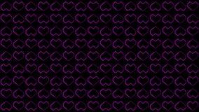 Die Herz-Hintergründe winken die Grafiken zu, die Valentine's-Tageslebhafte Form-Schleife kennzeichnen stock abbildung