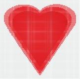 Die Herzillustration Stockfoto