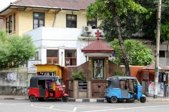 Die Hingabe zu St Anthony und zum Baby Jesus in Colombo, als gesehenem f stockfotografie