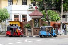 Die Hingabe zu St Anthony und zum Baby Jesus in Colombo, als gesehenem f lizenzfreies stockbild