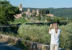 Die historische Abtei von Passignano Stockbilder
