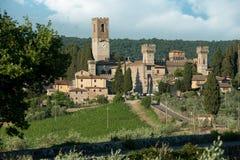 Die historische Abtei von Passignano Lizenzfreie Stockfotos