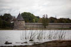 Die historische Architektur der Slawen Stockfotografie