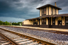 Die historische Bahnstation in Gettysburg, Pennsylvania Stockfotos