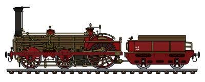 Die historische Dampflokomotive Lizenzfreie Stockfotografie