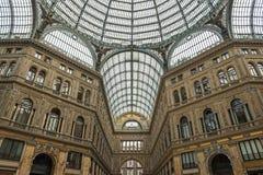 Die historische Galerie von Neapel in Italien Stockfotografie