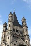 Die historische Kirche St Martin in Köln stockbilder