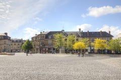 Die historische Mitte der Stadt von Reims Stockbild