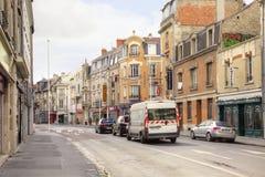 Die historische Mitte der Stadt von Reims Stockbilder