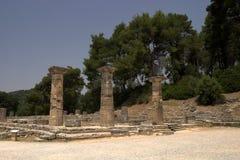 Die historische Site von Olympia Lizenzfreie Stockbilder