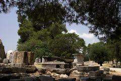 Die historische Site von Olympia Stockfotografie