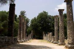 Die historische Site von Olympia Lizenzfreie Stockfotografie