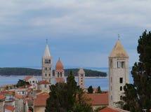 Die historische Stadt Rab in Kroatien Stockbilder