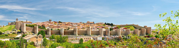 Die historische Stadt von Avila Stockfotografie
