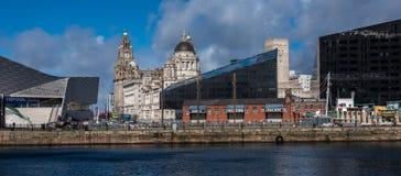 Die historische Ufergegend in Liverpool stockfotos