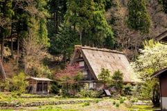Die historischen Dörfer von Shirakawago Stockfotografie