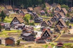 Die historischen Dörfer von Shirakawago Lizenzfreies Stockbild