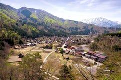 Die historischen Dörfer von Shirakawago Stockfotos