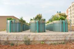 Die hoch entwickelte überschüssige Wasseraufbereitungsanlage Stockfoto
