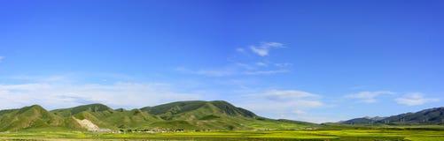 Die Hochebenenlandschaft der Qinghai- - Tibet-Hochebene u. des x28; in Qinghai-Provinz von China u. von x29; Lizenzfreie Stockfotografie