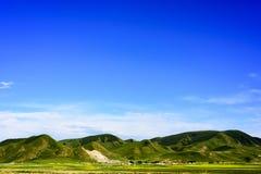 Die Hochebenenlandschaft der Qinghai- - Tibet-Hochebene u. des x28; in Qinghai-Provinz von China u. von x29; Lizenzfreies Stockbild