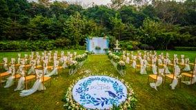 Die Hochzeit basiert auf Blumen lizenzfreie stockfotografie
