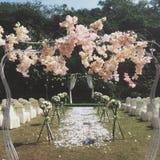 Die Hochzeit basiert auf Blumen lizenzfreies stockfoto