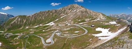 Die hohe alpine Straße Grossglocner stockfotos