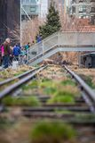 Die hohe Linie Park New York City Stockfotos
