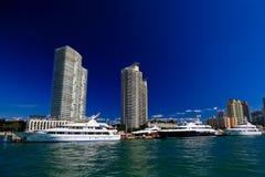 Die hohen Gebäude in Miami Beach Stockbild